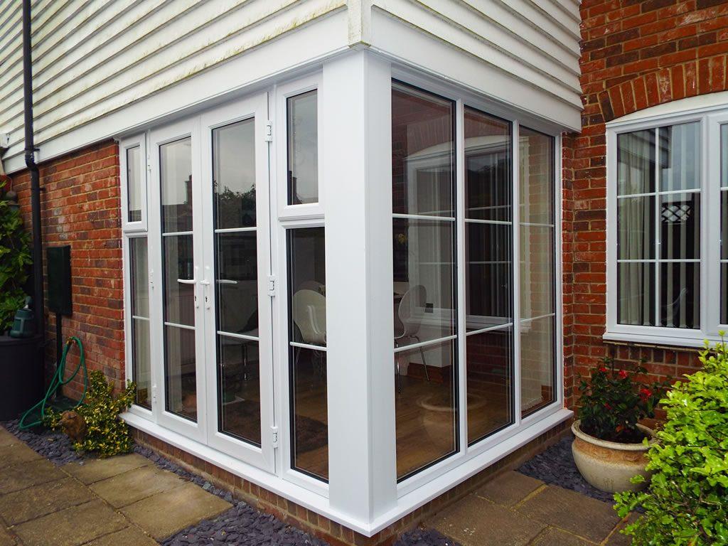 Inspiration gallery britelite windows doors and conservatories white upvc french door rubansaba